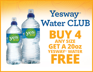 Yesway Water CLUB - Buy 5 Any Size Get a 20oz Yesway Water FREE