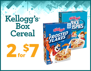 Kellogg's Box Cereal - 2 for $7