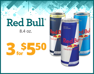 Red Bull (8.4oz) - 3 for $5.50