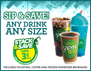 Sip & Save Any Drink Any Size - Save 3¢