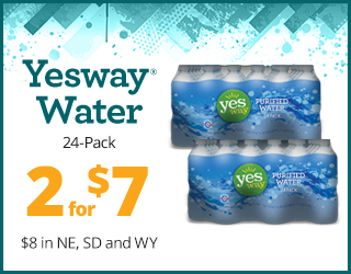 Yesway Water (case) - 2 for $7 (2 for $8 in NE, SD, WY)