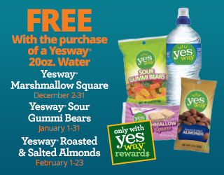 Free Yesway Snack with 20oz Water