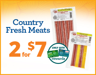 Country Fresh Meats 2 for $7
