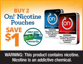Buy 2 On! Nicotine Pouches Save $1