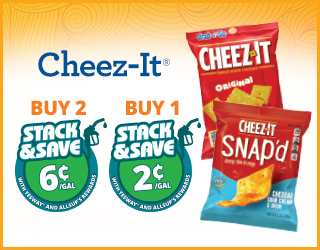 Cheez-It Buy 2 Save 6¢, Buy 1 Save 2¢