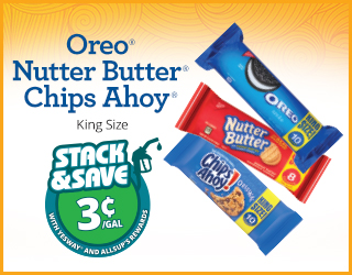 Oreo Nutter Butter Chips Ahoy King Size Save 3¢