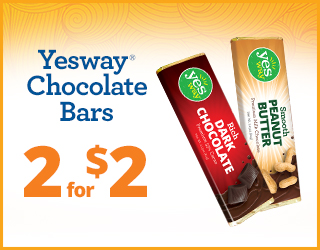 Yesway Chocolate Bars 2 for $2