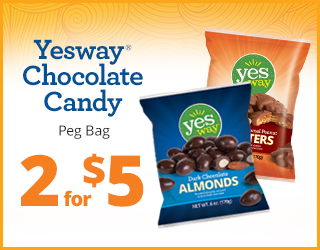 Yesway Chocolate Candy 2 for $5
