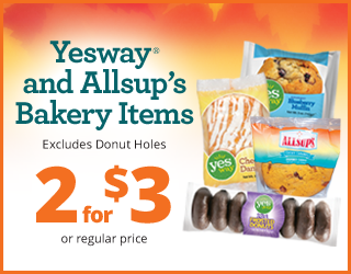 Yesway/Allsup's Bakery Items - 2 for $3