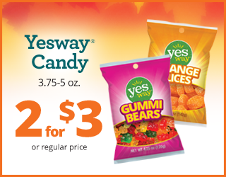 Yesway Candy 3.75-5oz - 2 for $3